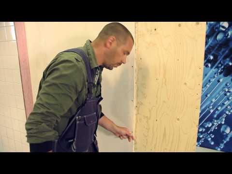 Instruktionsfilm för att bygga Säker Vatten-väggen för våtrum