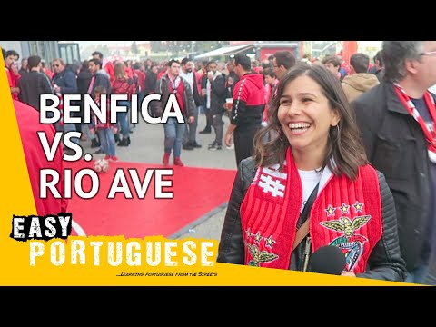 At a Portuguese football match | Easy Portuguese 3 photo