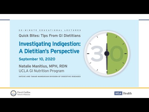 Investigating Indigestion| Natalie Manitius, MPH, RDN | UCLA Digestive Diseases