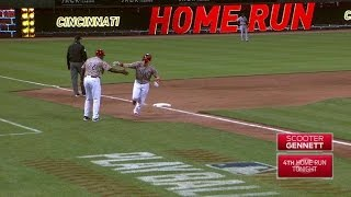 STL@CIN: Gennett belts his fourth homer of the night
