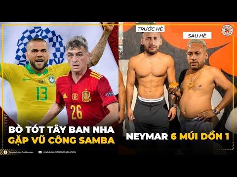 Bản tin Troll Bóng Đá 4/8: Bò tót Tây Ban Nha đụng Vũ công Samba   Neymar 6 múi dồn 1