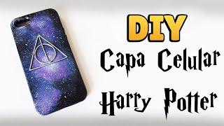 DIY: COMO FAZER CAPA DE CELULAR Personalizada Relíquias da Morte - HARRY POTTER - GALAXY #diyhp
