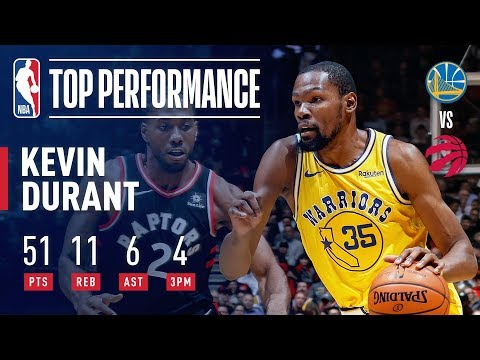 Kevin Durant Drops A SCORCHING 51 Points In Toronto | November 29, 2018