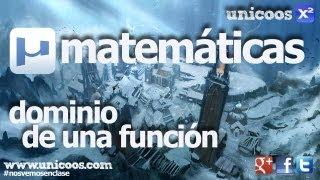 Imagen en miniatura para Dominio de una función