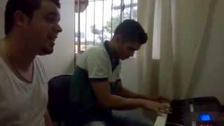 Deusnir e professor Juninho Santos na Randal