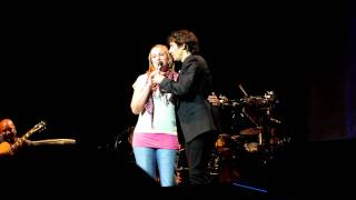 The Prayer duet with a fan - Josh Groban Stockholm 9/23/2011