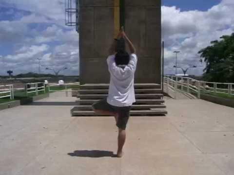 赤道でヨガ Yoga en el ecuador en Macapa,Brasil