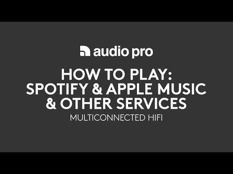 Audio Pro multiroom How To Play