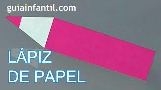 Aprende a hacer origami, un lápiz de papel