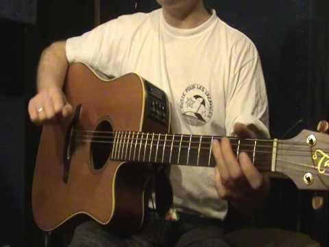 Comment jouer Aline de Christophe à la guitare (part 2)