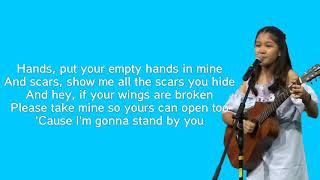 Rachel Platten - Stand By You ( Lirik ) by Charisa Faith Idol Junior 2018