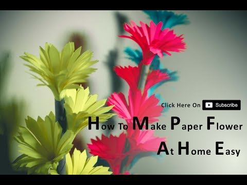 Download Thumbnail For How To Make Beautiful Paper Flower At Home