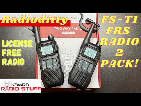 Radioddity FS-T1 License Free FRS Radio 2 Pack