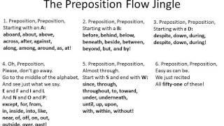 Jingle 11 - The Preposition Flow Jingle - 3rd thru 8th