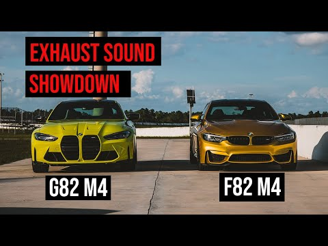 Exhaust Sound Comparison: 2021 M3 / M4 (G80/G82) vs. F82 M4 vs. E92 M3 (V8)