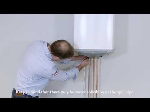 How do I empty my water heater?