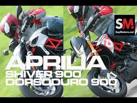 Aprilia Shiver 900 y Dorsoduro 900 2017: Prueba moto naked (FULLHD)