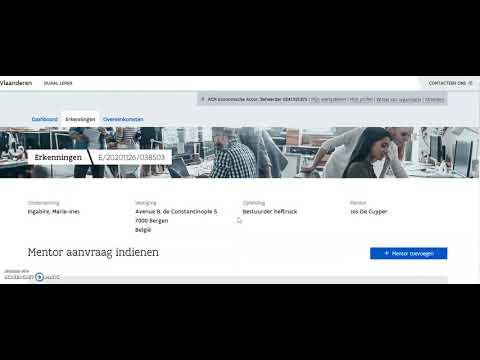 Tutorial: Mentor toevoegen aan een goedgekeurde erkenning in het digitale loket app.werkplekduaal.be