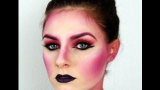 Fasching Halloween Creative Geisha Alien Makeup Tutorial
