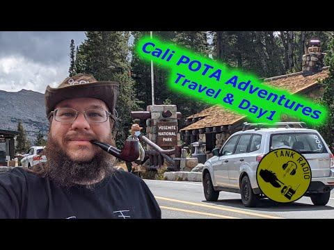 California POTA Parks Adventure Part 1.  Yosemite National and Mono State Parks