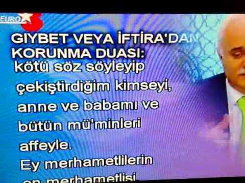 Nihat Hatipoglu-GIYBET VEYA IFTIRA'DAN KORUNMA DUASI: