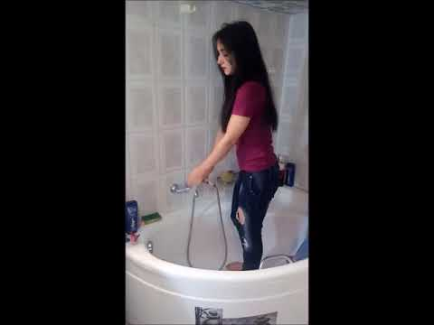 warm shower highheels jeans fashion