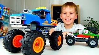 Лего Сити 60180 Машинки для детей Монстр трак. Сравниваем с другими машинками внедорожниками.