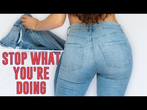 Video: WHAT NO ONE TELLS YOU ABOUT JEANS *life changing*