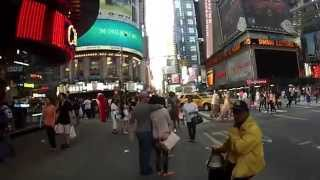 Go Pro 3 - Walking in NYC, near Time Square, New York, NYC