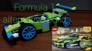 Lego® Formula 1 alternative build with Lego set 31074