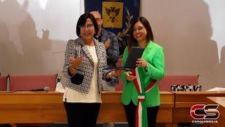 Proclamazione Giusy La Galia a sindaco di Gioiosa Marea - www.canalesicilia.it
