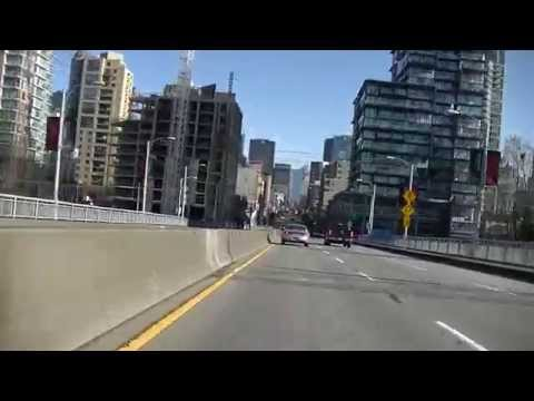 Vancouver International Airport (YVR) to Downtown - Driving in British Columbia Canada - Jazz BGM