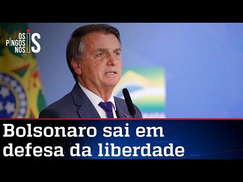 Bolsonaro critica regulação da mídia e volta a defender a liberdade de imprensa