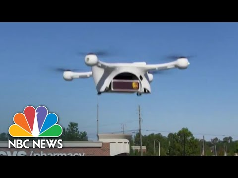 Drones, Robots And More Safely Deliver Supplies During Coronavirus Crisis | NBC Nightly News
