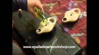 Epalladio Art Workshop- Ceramic olive oil lamps
