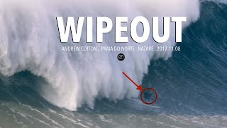 Andrew Cotton's BIGGEST WIPEOUT of the Year - WSL Big Wave Awards Winner 2017/2018