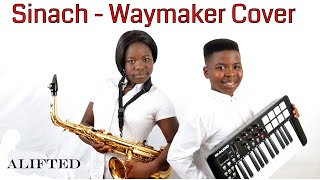 Sinach  Waymaker cover by 12 year old sax legend  Alice Joshua of Alifted. Nigerian Gospel Music