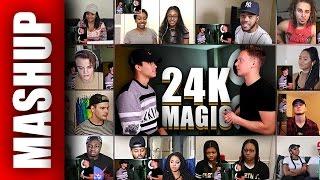 Bruno Mars - 24K Magic (Sing Off vs Alex Aiono) Reactions Mashup
