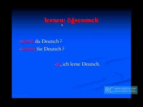 Almanca soru kalıpları