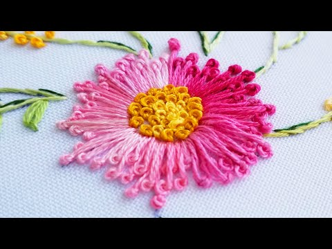 Hand Embroidery: easy Brazilian embroidery | for beginners