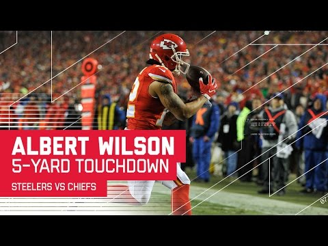 Travis Kelce Catch Sets Up Albert Wilson TD Catch | Steelers vs. Chiefs | NFL Divisional Highlights