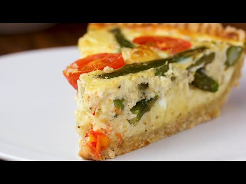 Cast-Iron Cheesy Asparagus Quiche ? Tasty