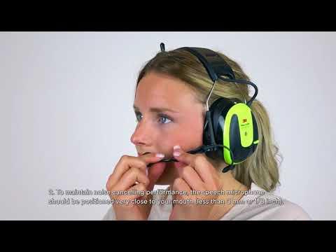 Adjust The Headset   3M™ PELTOR™ WS™ ALERT™ XPI User Instructions
