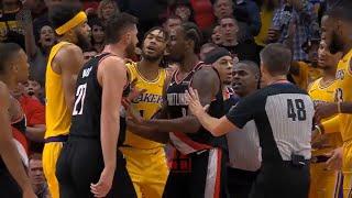 Brandon Ingram FIGHTS Jusuf Nurkic! Lakers vs Blazers FIGHT for Win!