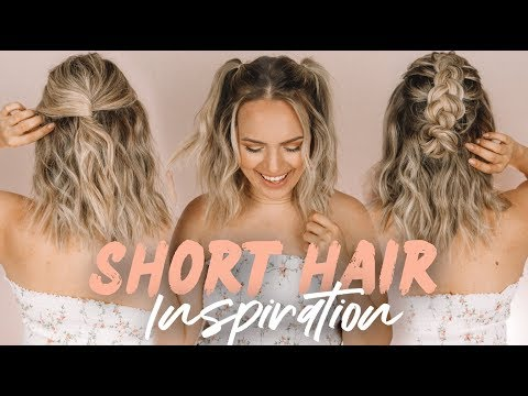 Easy Short Hairstyles and Beach Waves! - KayleyMelissa