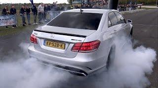 Mercedes-Benz E63 AMG – BURNOUT, REVS, DRAG RACING!!