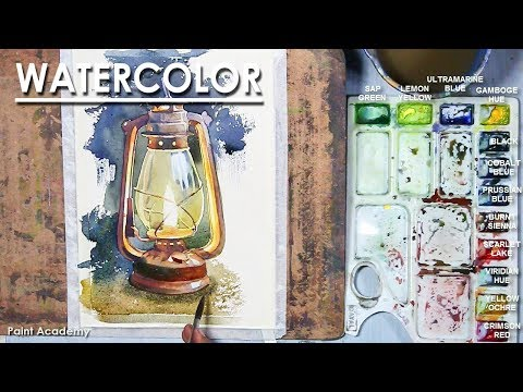 Watercolor Painting : Old Lantern