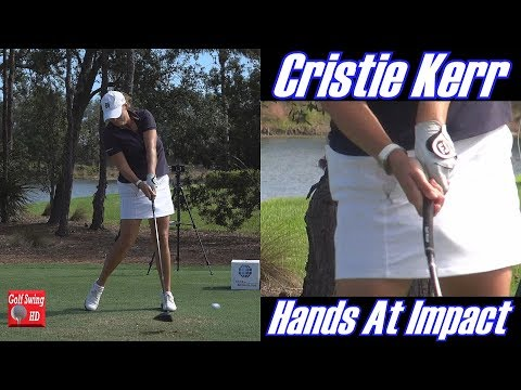 CRISTIE KERR 120fps HANDS AT IMPACT SLOW MOTION GOLF SWING 1080 HD