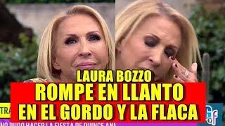 Laura Bozzo ROMPE EN LLANTO EN VIVO en EL GORDO y LA FLACA