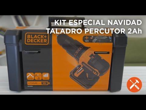 Taladro percutor 18V 2Ah Litio - Kits Navidad 2016 - BLACK+DECKER
